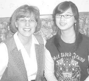 Carol Kusek with exchange student ye Jeong Yook