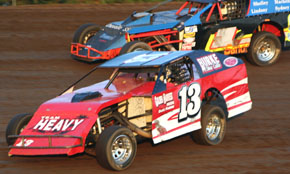 T.J. Artz (13) won the Modified Feature Friday