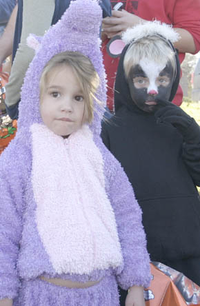 Children ready for trick-or-treating