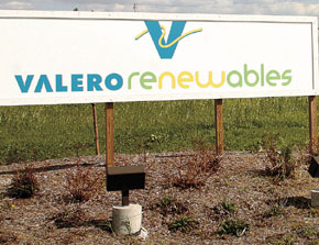 A new sign was in place Monday, marking new ownership of the ethanol plant near Albion