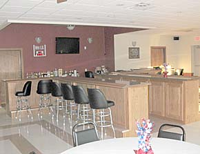 Bar area of new Albion Veterans Club