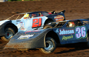 Late Model battle at BCR