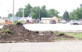 Excavation at the parking lot of Boone County Health Center