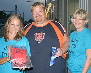 "Randy Stuhr gets an award during the ""Bash in the Burg."""