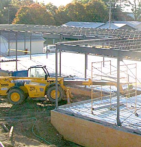 Structural steel for first floor hospital addition.