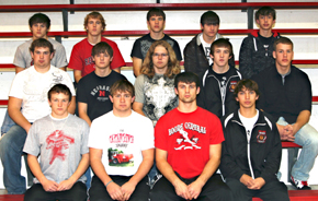 Front, from left, Kody Maricle, Dustin Christo, Nathan Olson, Kevin Liss. Second row, from left, Michael Schmitz, Keith Prothman, Spencer McBride, Keenan Howell, Jace Willets. Back, from left, Jerad McLean, Julian Kunzman, Lane Anderson, Matt Spieker, Trey Sorell.