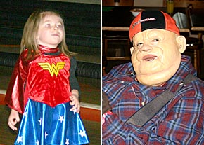 Children and adults donned costumes for Halloween.