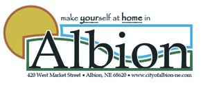 Design for Albion's new welcome signs.