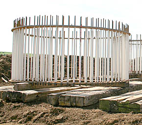 Bolt cage for wind tower foundation.