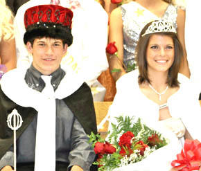 King Matt Spieker and Queen Bobbi Beckwith