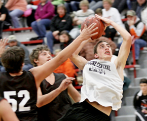 Trey Sorell slices to the hoop