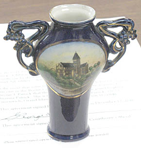 Antique vase presented to Boone County.