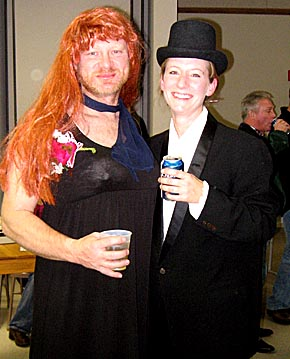Two of the Adult Prom attendees.