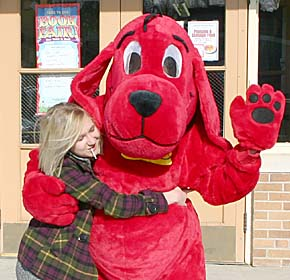 Greeting Clifford, the Big Red Dog.