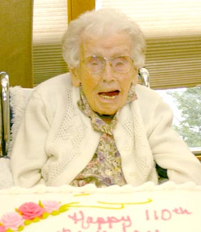 Mable Ragan at her 110th birthday party.