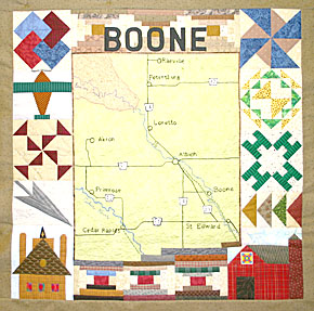 Boone County quilt block.