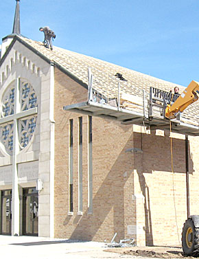 New roof project at St. John the Baptist Church