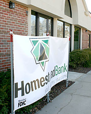 Banner at Homestead Bank, Albion.