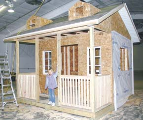 Playhouse for home show.