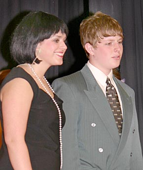 Briget Krings as Millie Dillmount and Brandon Dozler as Jimmy Smith