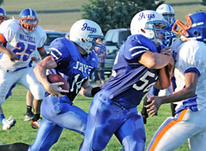 Troy McCuiston sets sail for end zone