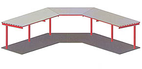 Concept drawing of bleacher roof cover.