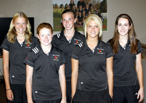 From left, Amy Ahlers, Melissa Kyncl, Breann Thorberg, Faith Leetch, Britany Seda