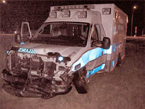Boone County ambulance after Nov. 28 accident near York. (Photo courtesy of York Co. Sheriff's Department)