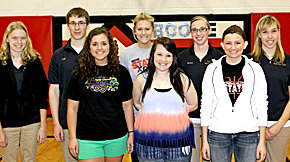 Boone Central speech members who are competing at state March 21.