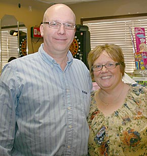 SPECIAL GUESTS — Cooper DeWitt's grandparents, Mark and Karen Victor of Wakefield, were special guests at the 'Baskets of Hope' fundraiser last Friday night.