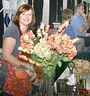 Christy Weidner greets customers at the Brewed Bean booth during the 2012 Home, Farm and Garden Show.