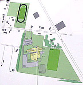 Concept drawing of proposed new Boone Central High School complex.