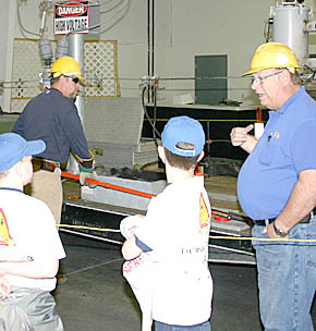 Loup Power and Cornhusker Power participated in electrical safety training at Farm Safety Day.