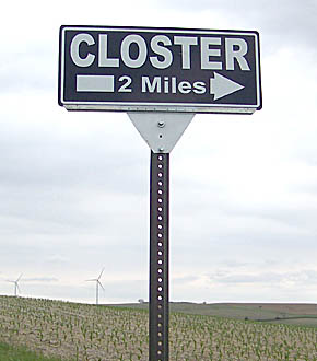 Closter sign