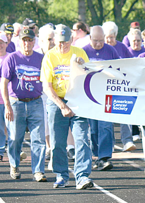 Survivors Lap of the 2012 Relay for Life.