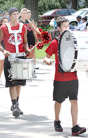Boone Central High School band and cheerleaders provided enthusiasm for the annual Fair Parade.