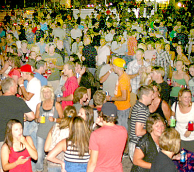 A portion of the crowd attending the Q125 Rumbles Dance on June 30.