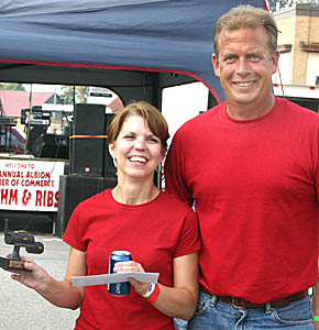 Heather and Chris Kohtz of Albion won the top People's Choice award at Rhythm & Ribs.