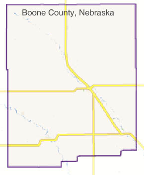 Boone County highway map