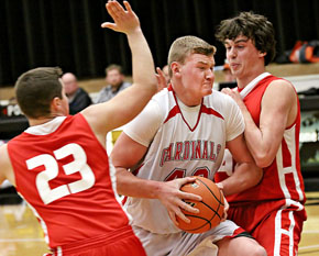Beau Bremer fights to the basket