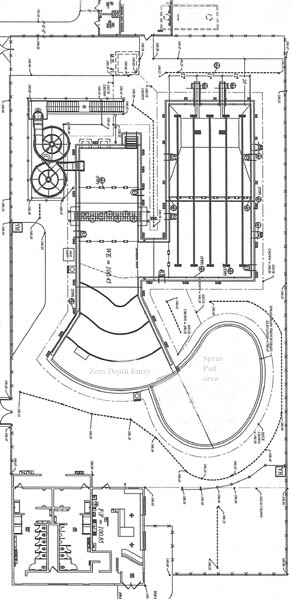 Diagram of the new Albion Swimming Pool.