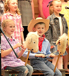 Boone Central third graders perform at elementary spring program.