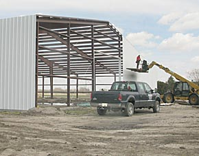 New storage building at Kayton International.