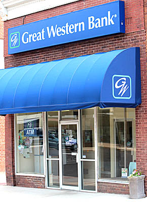 Great Western Bank in Albion.