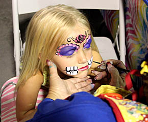 KIDS DAY -- Area children were treated to face painting as one of the Boone County Fair activities on July 9.
