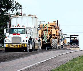 Werner Construction equipment at work on Highway 91.