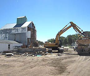 Old fertilizer plant removed at Petersburg.