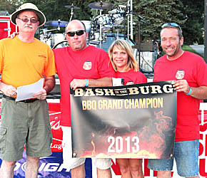 Jake's Smoke Shack team, overall barbecue winner at 2013 Bash in the Burg.