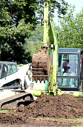 Excavation work and tree removal began las week for the new Albion Swimming Pool.