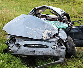 Vehicle driven by Jennifer Markvicka, Scotia, after the Wednesday accident.